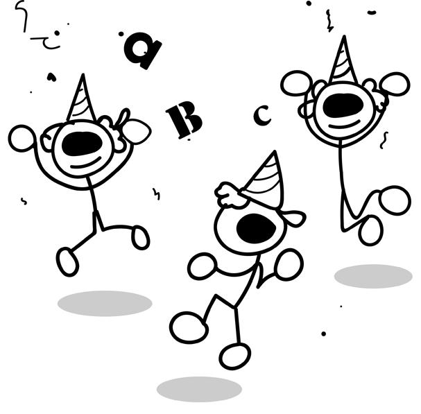 Poodll mascots celebrating